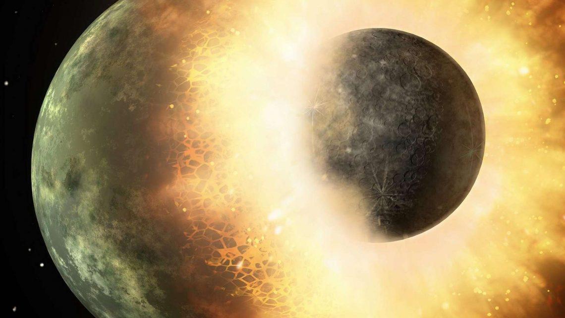 La vie sur Terre viendrait de la collision qui a donné naissance à la Lune