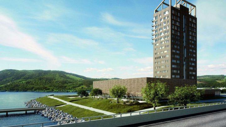En Norvège, la plus haute tour en bois du monde bientôt achevée