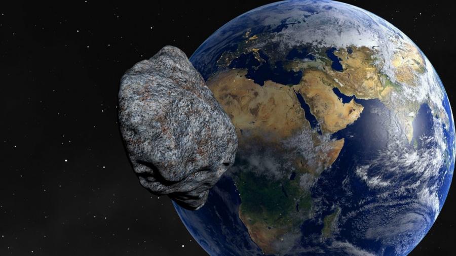 Asteroide Terre Planete Heurter Espace