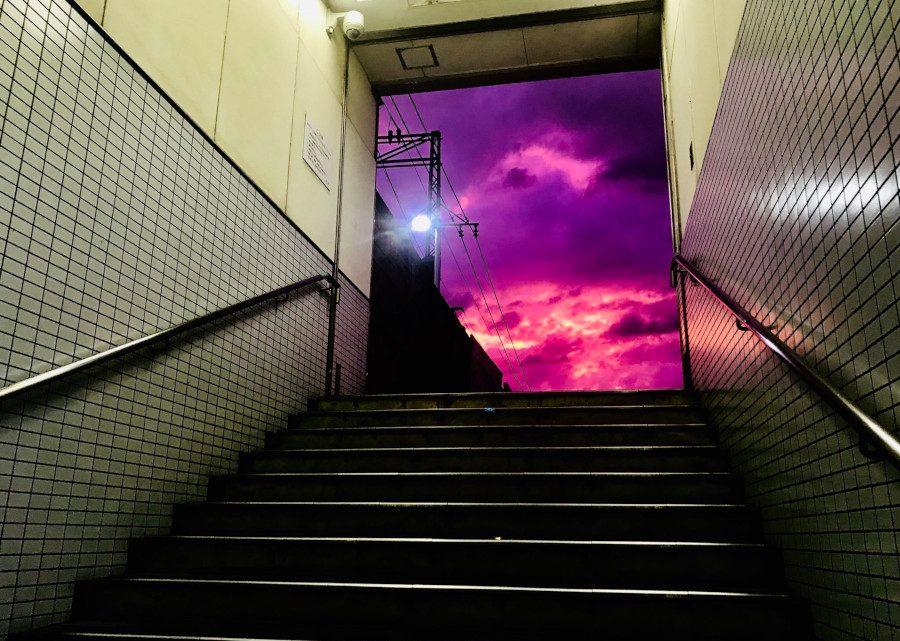 Le ciel a viré au violet avant que le typhon Hagibis ne frappe les côtes japonaises