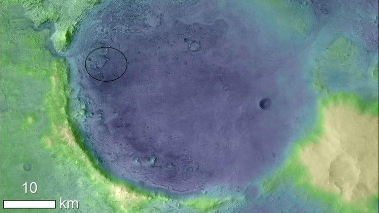 La mission Mars 2020 cherchera des fossiles dans le cratère de Jezero