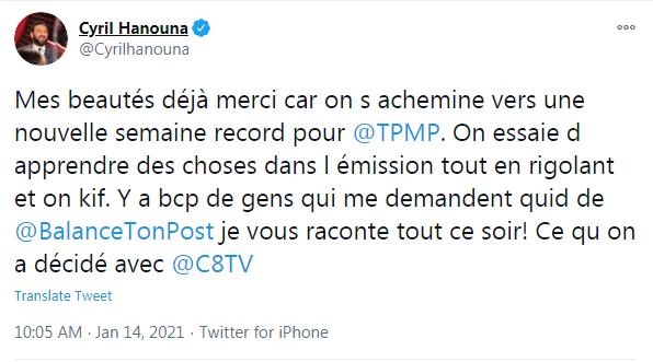 Cyril Hanouna affole la toile !