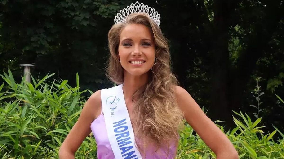 Amandine Petit (Miss France 2021) en larme sur le plateau de Laurent Ruquier! Et pour cause....